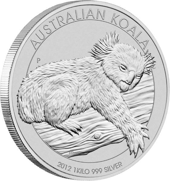 Australien Koala 1 KG Silbermünze 2012