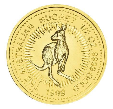 Australien Nugget 1/2 Unze Gold 1999