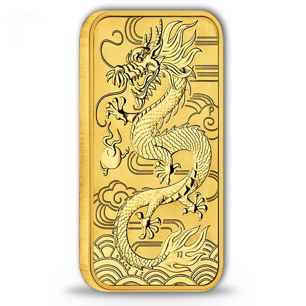 Drache 1 Oz Gold 2018 - Rectangular -