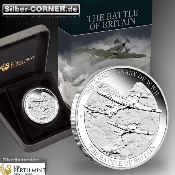 Battle over Britiain 1 Oz Silber Proof + Box + COA*