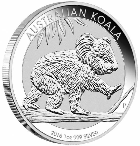 Koala 1 Unze Silbermünze 2016