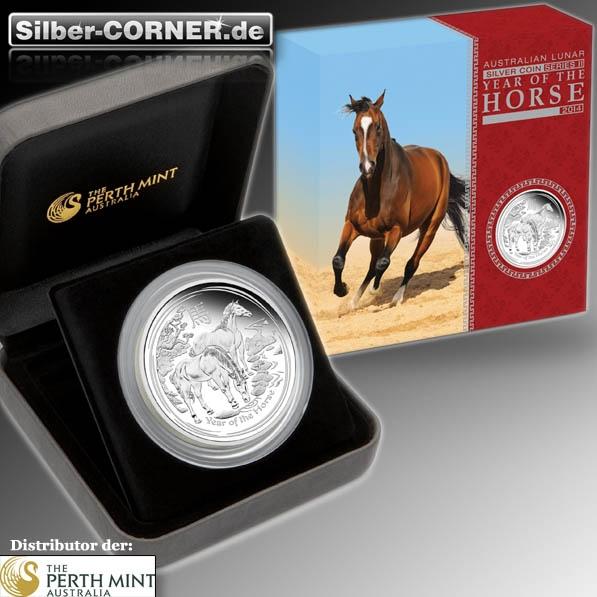 Lunar II 5 Oz Silber Proof Pferd + Box+CoA*