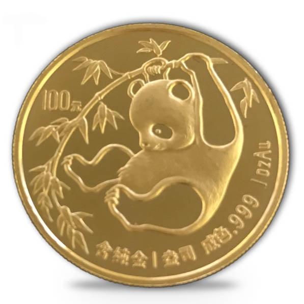 China Panda 1 Oz Gold 1985