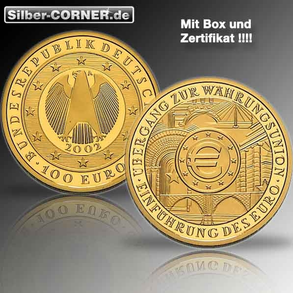 2002 100 Euro Währungsunion