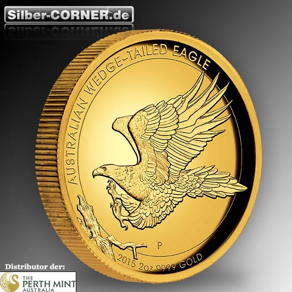 Wedge Tailed Eagle 2 Oz Gold High Relief 2015