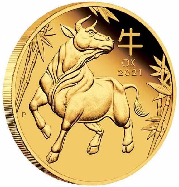 Lunar Ochse 1 Oz Gold Proof 20201