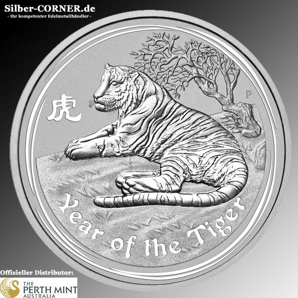 Lunar II Jahr des Tigers 2010 1/2 Oz Silber *