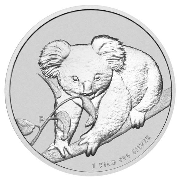 Koala 1 KG Silbermünze 2010