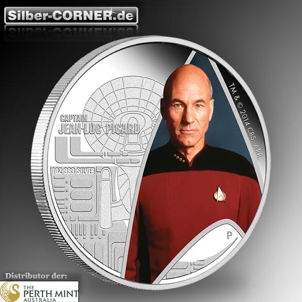 Star Trek - Cap. Jean-Luc Picard 1 Oz Silber Proof + Box*