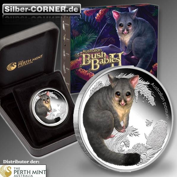 Bush Babies II Possum 1/2 Oz Silber Proof + Box + CoA*