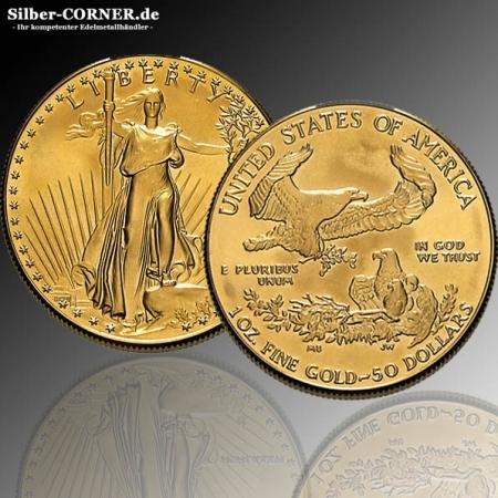 American Eagle 1 Oz Gold - div. Jahrgänge -