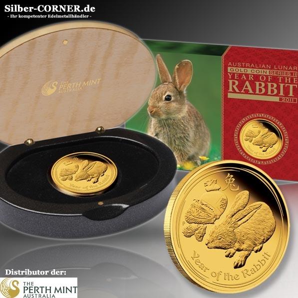 Lunar II Hase 1 Oz Gold Proof + Box + COA