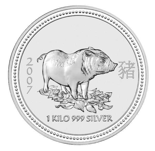 Lunar I - Schwein - 1 KG Silber 2007*