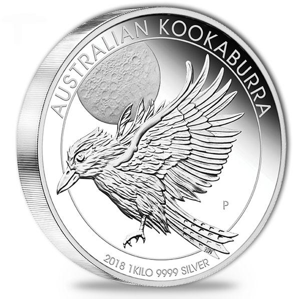 Kookaburra - 1 KG Silber Proof - 2018 +Box +COA *