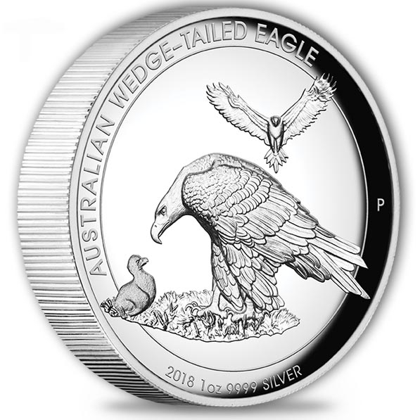 Wedge Tailed Eagle 1 Oz Silber - High Relief 2018 + BOX*