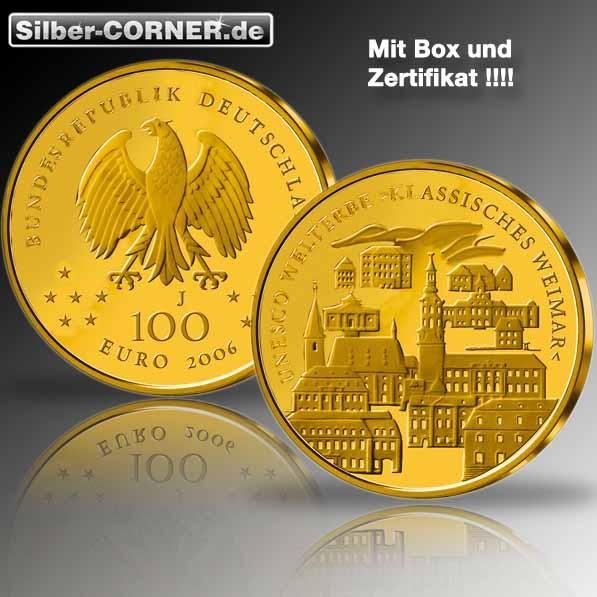 100 Euro Gold Weimar 2006 1/ Oz Gold