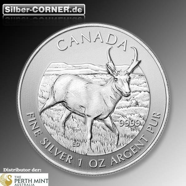 Canada Wildlife Antelope 1 Oz Silber*