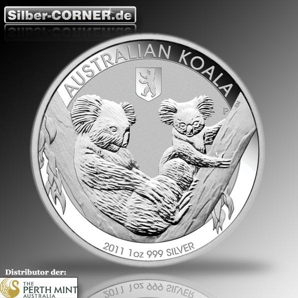 Koala 2011 Privy Mark Berlin 1 Oz Silber*