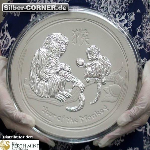 10 Kg Silber Jahr des Affen