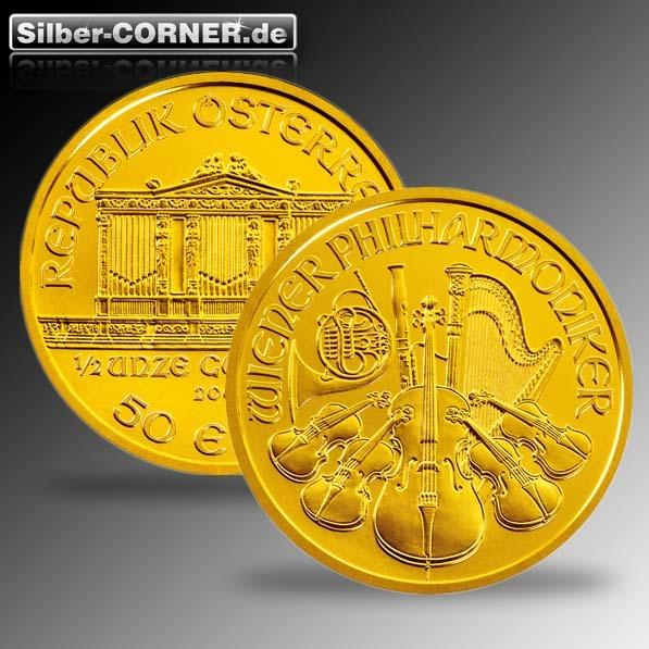 Philharmoniker 1/2 Oz Gold verschiedene Jahrgänge
